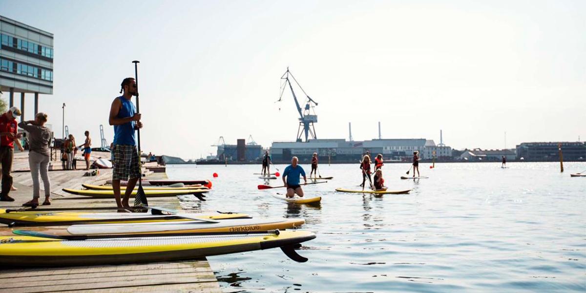 Leisure time at the water in Aarhus