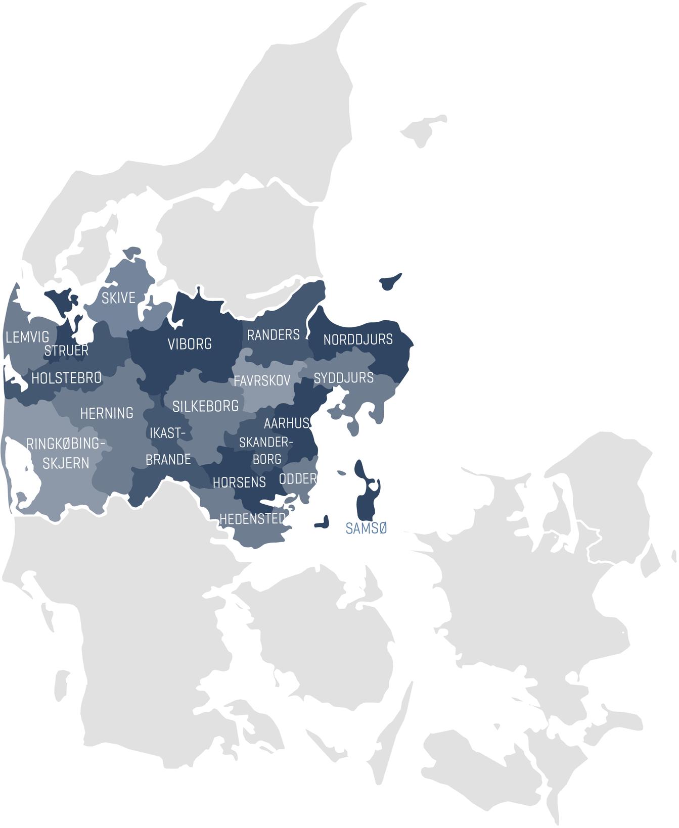 Map of Central Denmark